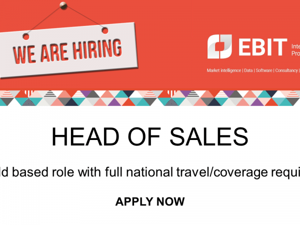 We are hiring. Ebit is looking for a Head of Sales.