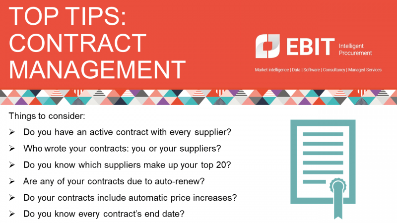 Ebit's top tips for contract management