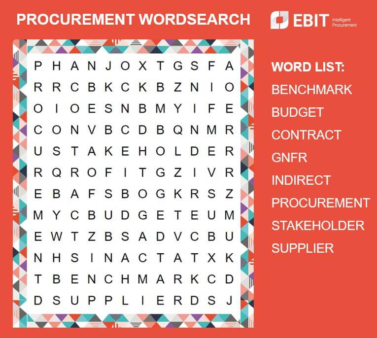 Procurement Wordsearch