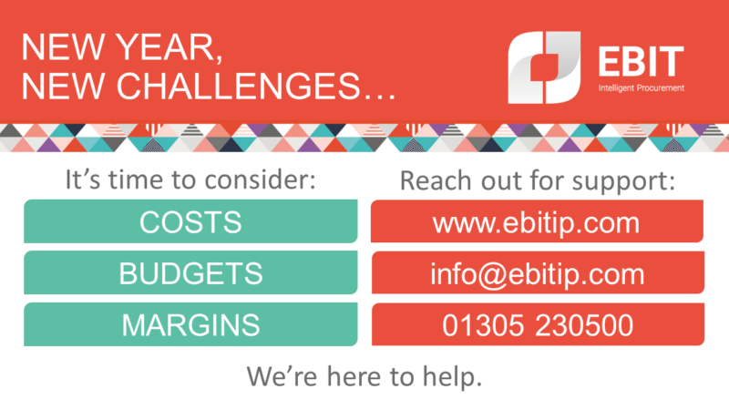 New year, new challenges. It's time to consider costs, budgets and margins. Contact us to find out how we can help.